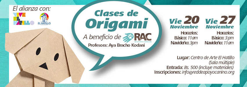 Origami a beneficio RAC